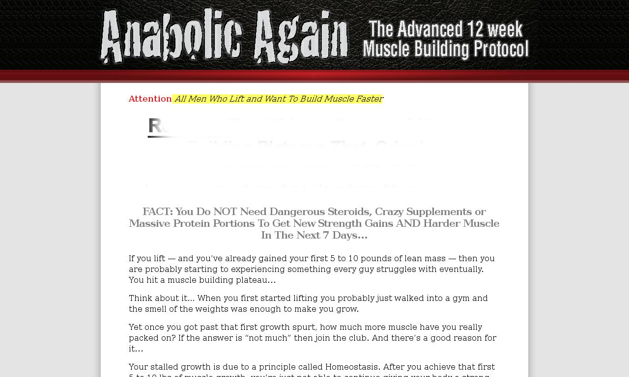 The a href='/external_link/49325'Anabolic Again Muscle Building Protocol /aHomepage