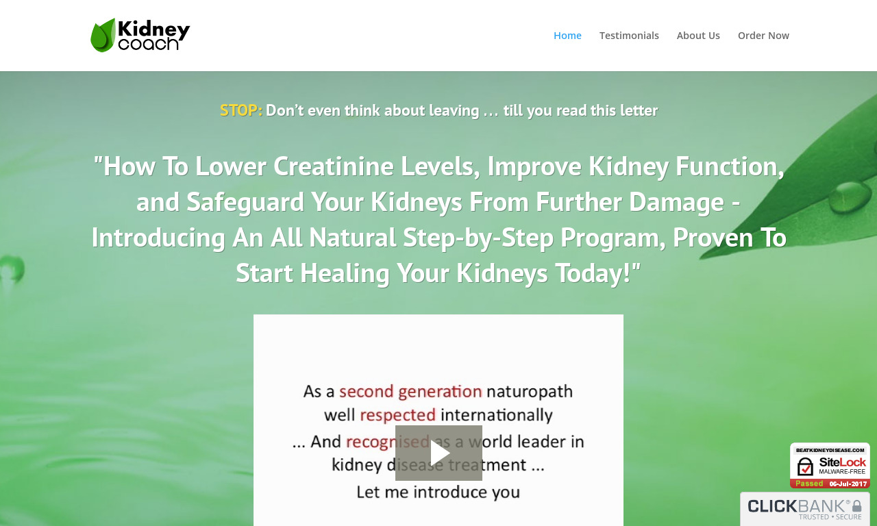 The Kidney Disease Solution Program + Unlimited Email Support