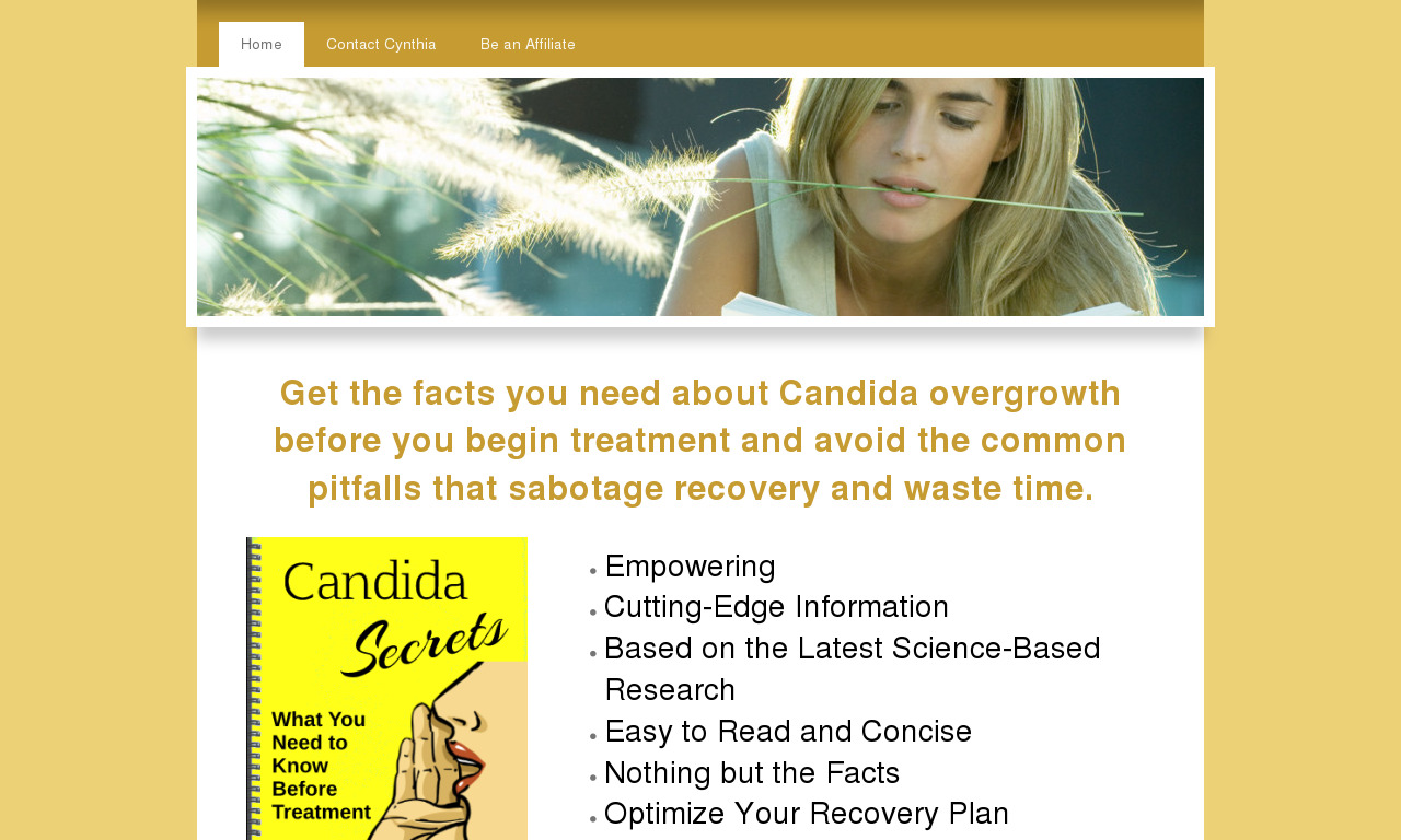 The a href='/external_link/73929'Candida Secrets/a Homepage
