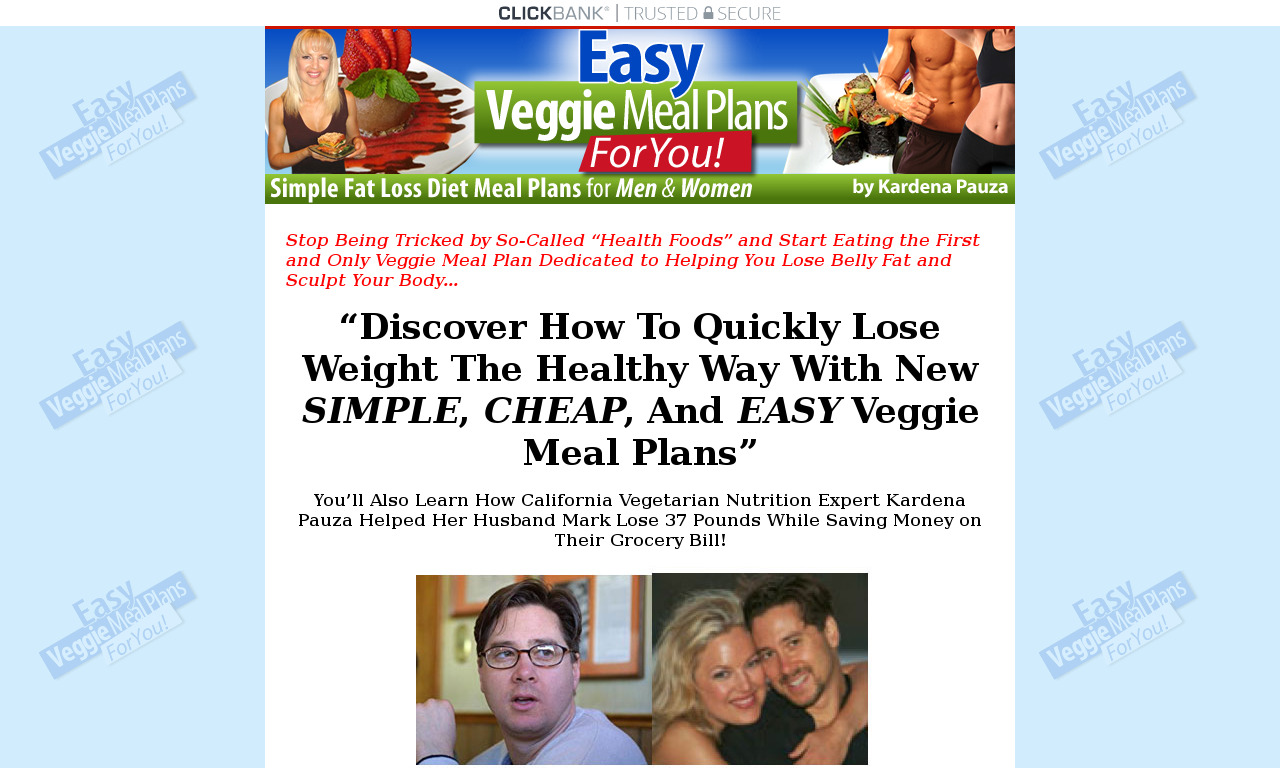 Easy Veggie Meal Plans Basic