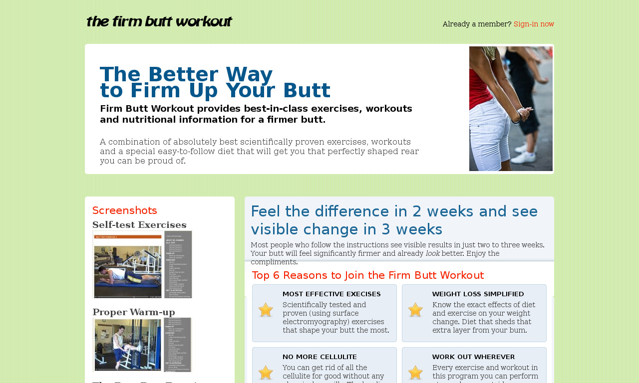 The a href='/external_link/19512'The Firm Butt Workout/a Homepage
