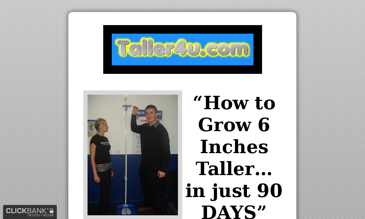 """Grow 6 Inches Taller In 90 Days"" DVD+Bonuses (HARD COPY)"