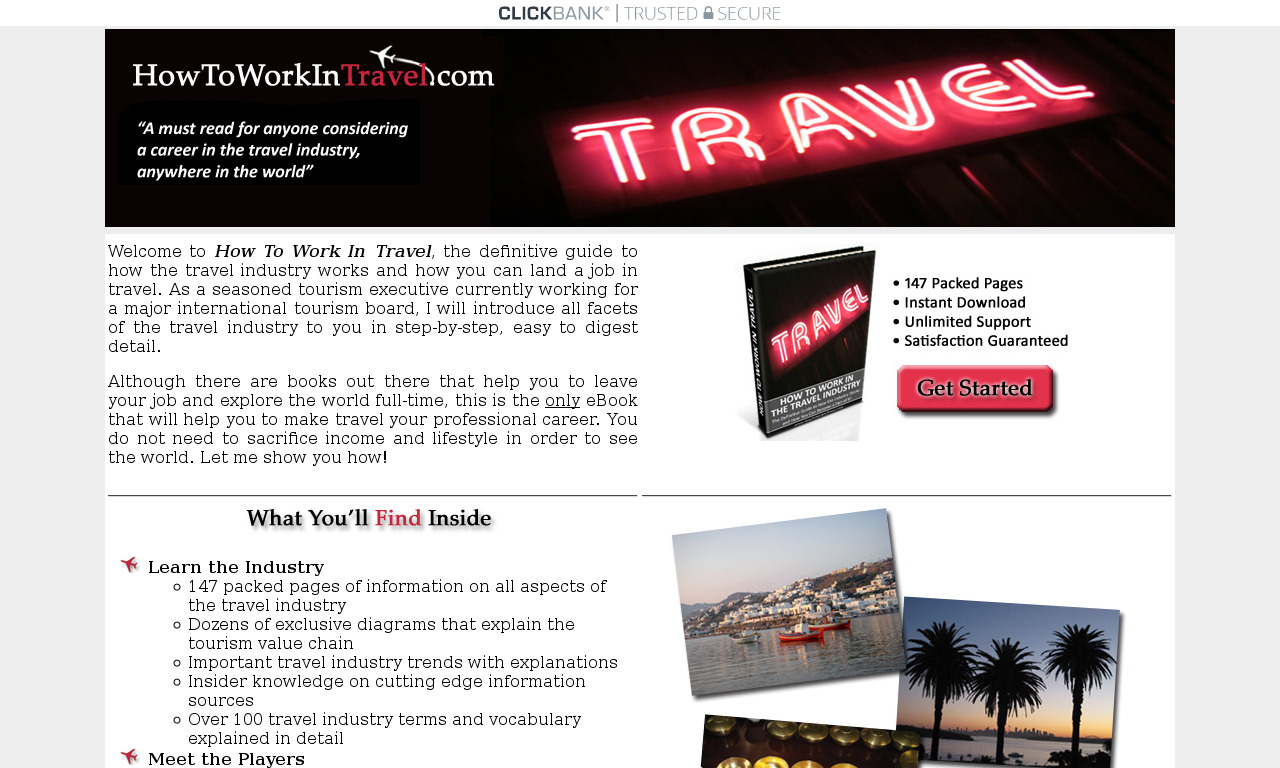 The a href='/external_link/94467'How to Work in Travel/a Homepage