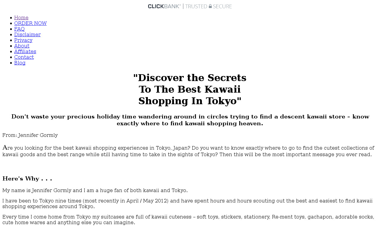 The a href='/external_link/14057'Kawaii Shopping In Tokyo Japan/a Homepage
