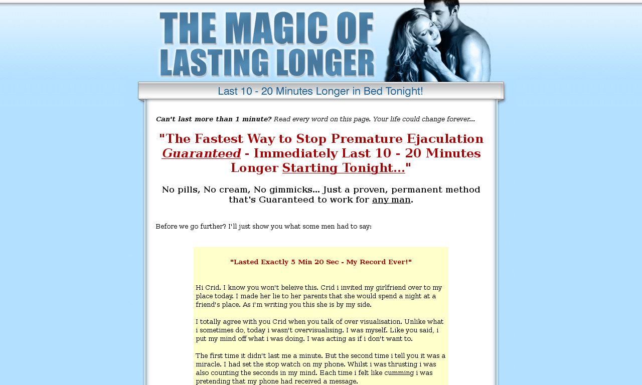 Magic of Lasting Longer With Bonuses