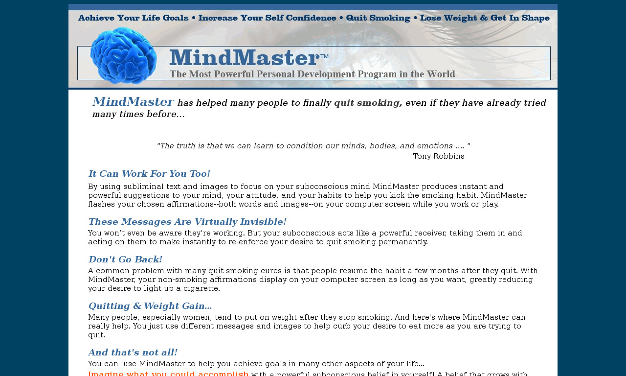 MindMaster Program, plus free ebooks & Mp3s