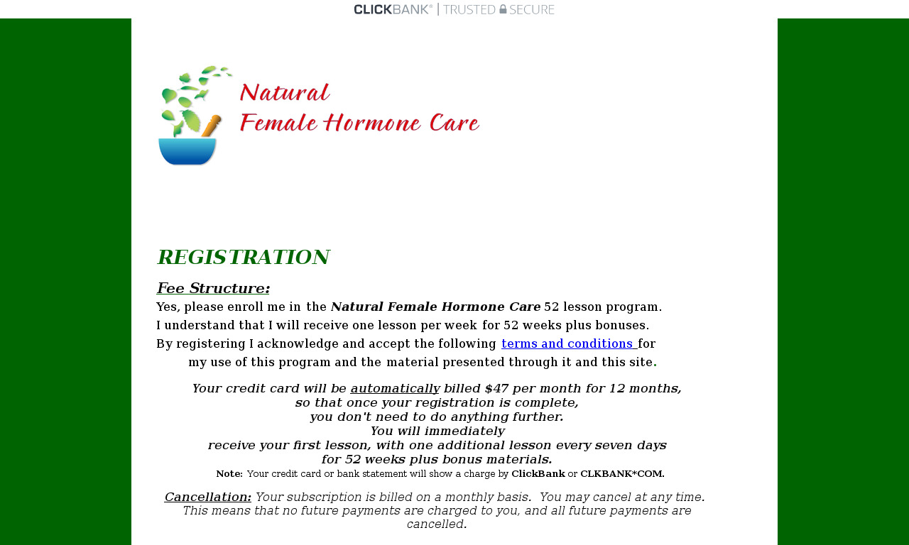 The a href='/external_link/92535'Natural Female Hormone Care/a Homepage