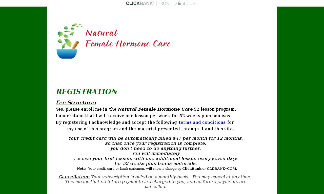 Natural Female Hormone Care