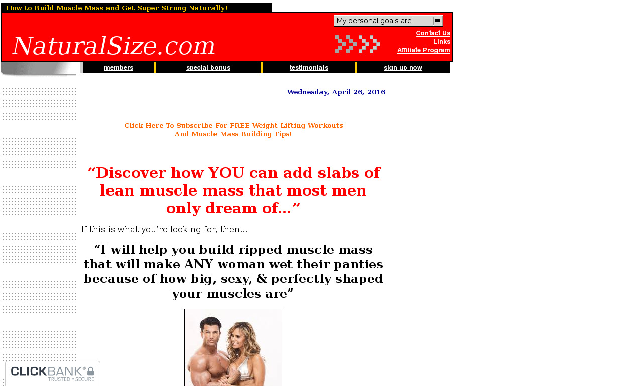 Natural Size Muscle Building