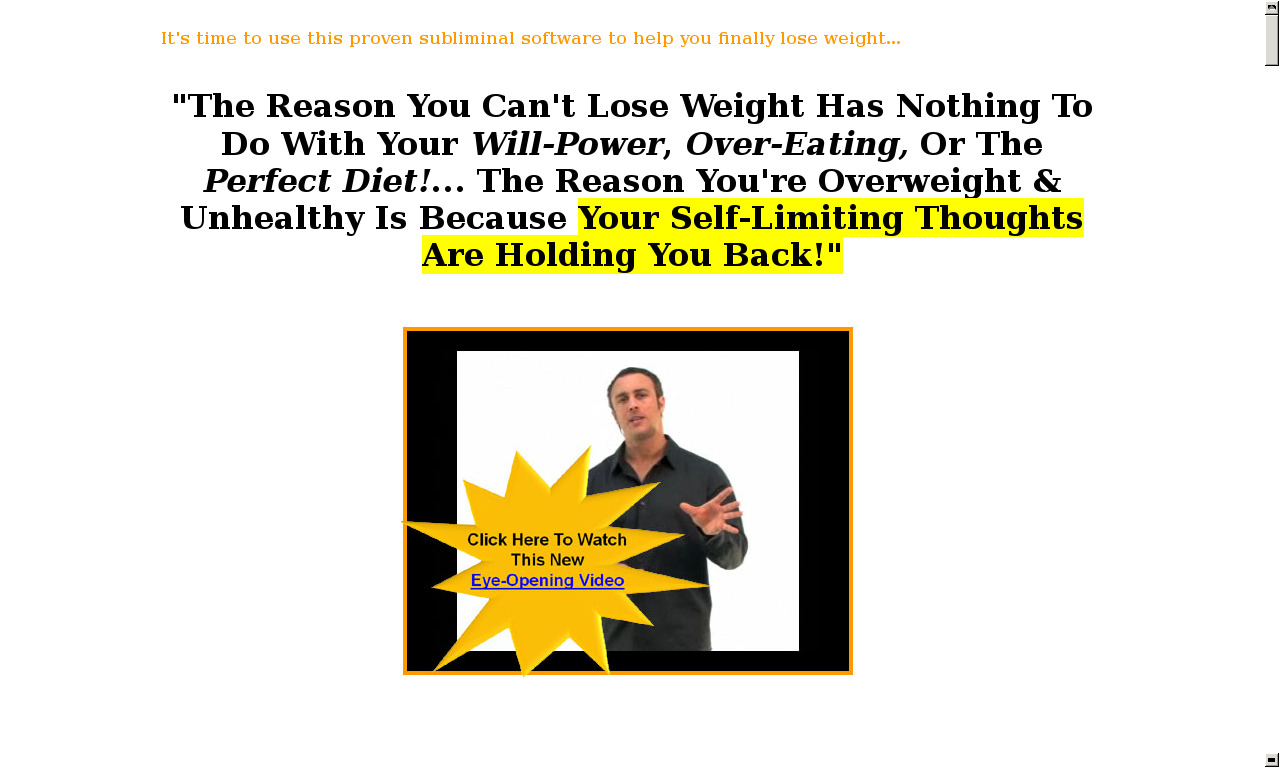Weight Loss Subliminal Software