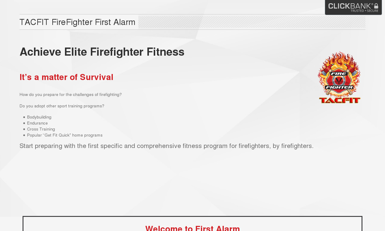 TACFIT FIRE FIGHTER: FIRST ALARM