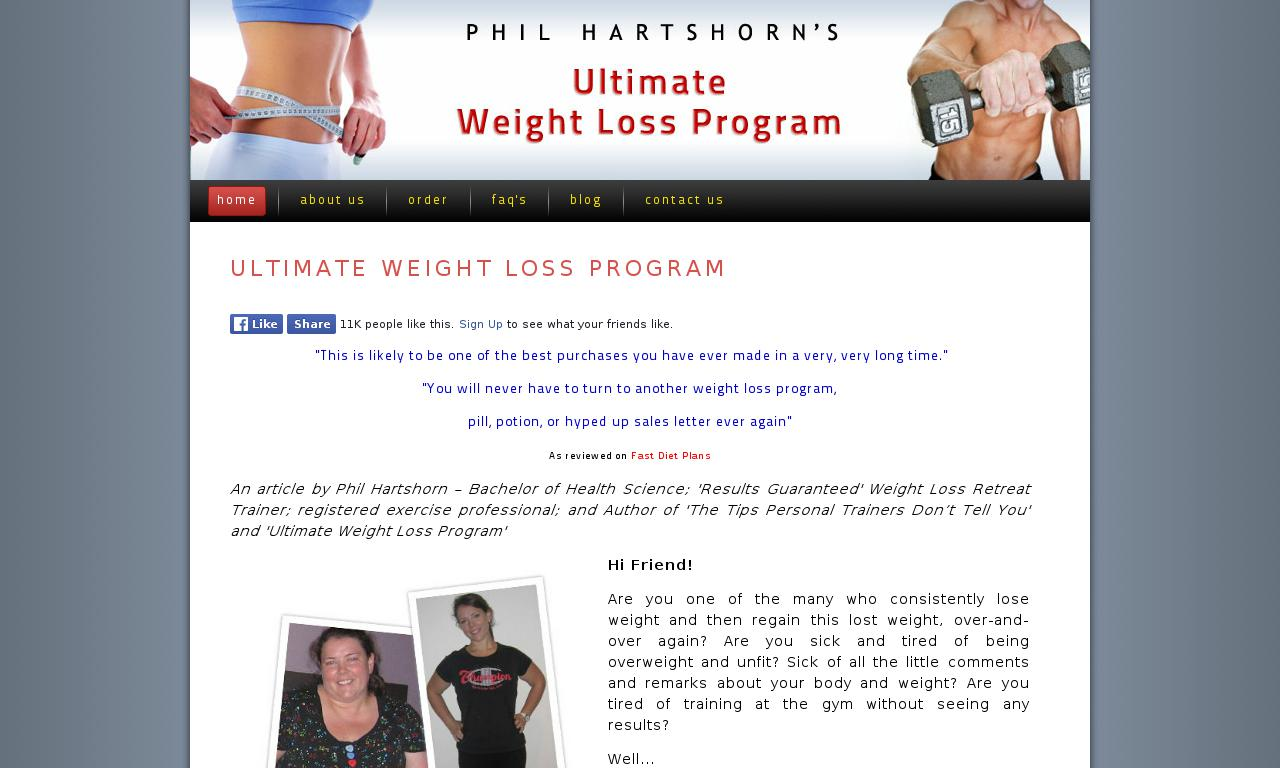 The a href='/external_link/61760'Ultimate Weight Loss Program Plus Bonuses/a Homepage