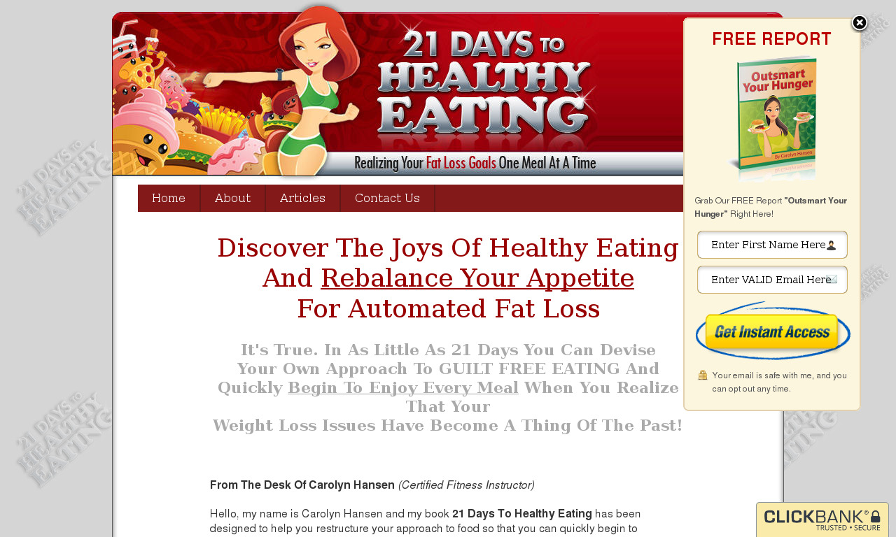 21 Days To Healthy Eating + Bonus Set 2