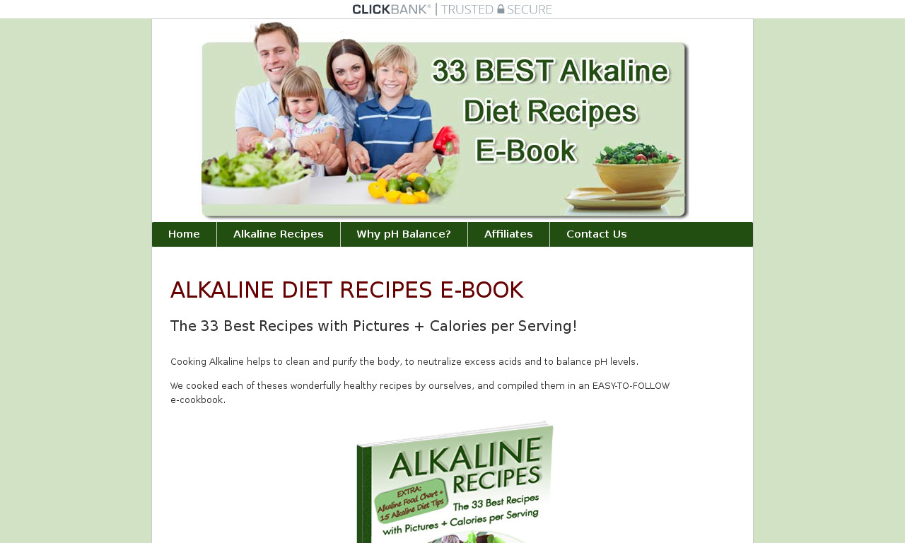 The a href='/external_link/215557'Alkaline Recipes /aHomepage