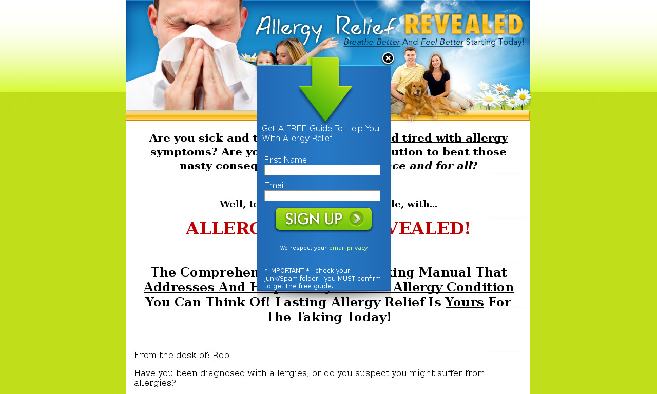 Allergy Relief Revealed