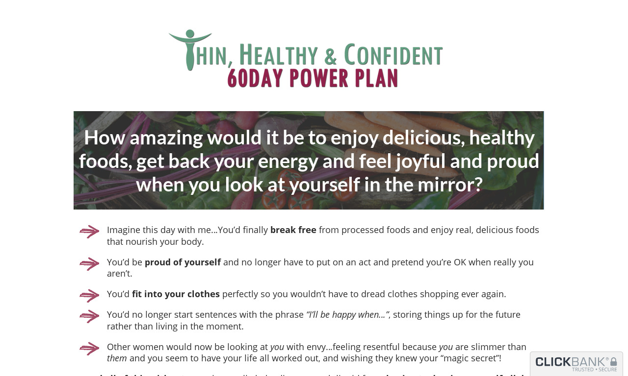 Thin, Healthy & Confident 60Day Power Plan