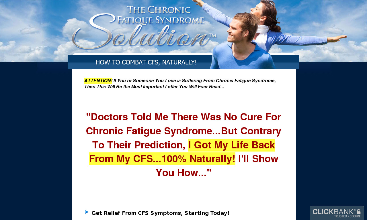 The Chronic Fatigue Syndrome Solution (TM) + 3 Months Coaching