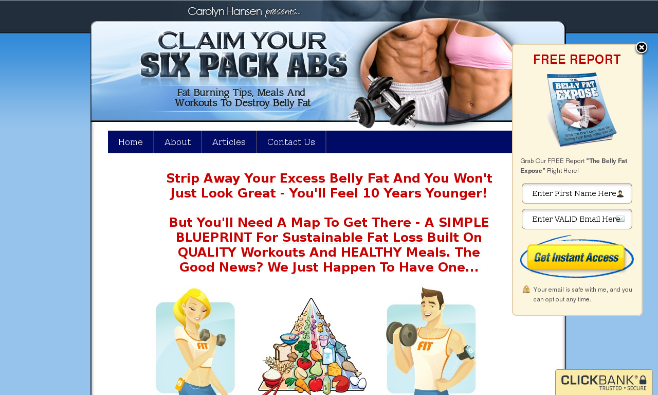 Claim Your Six Pack Abs + Bonus Set 3