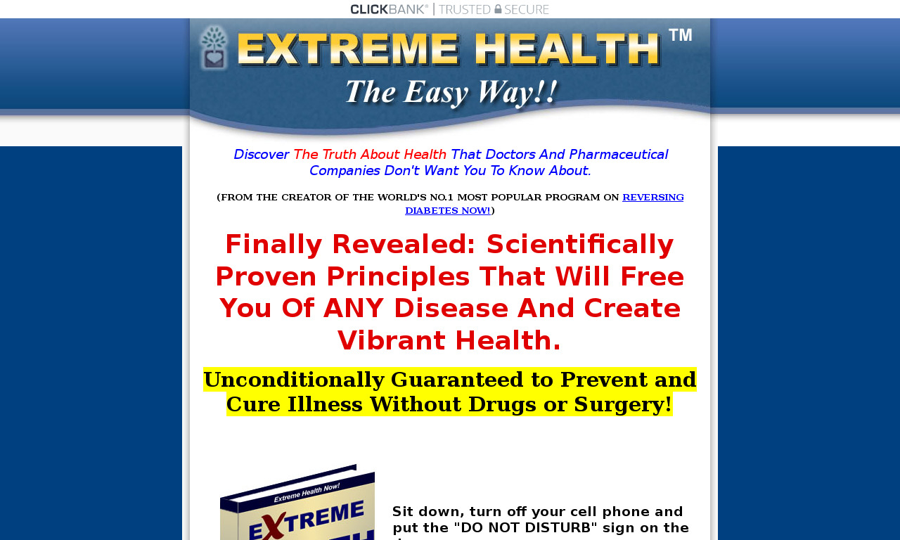 The a href='/external_link/191682'Extreme Health Now! /aHomepage