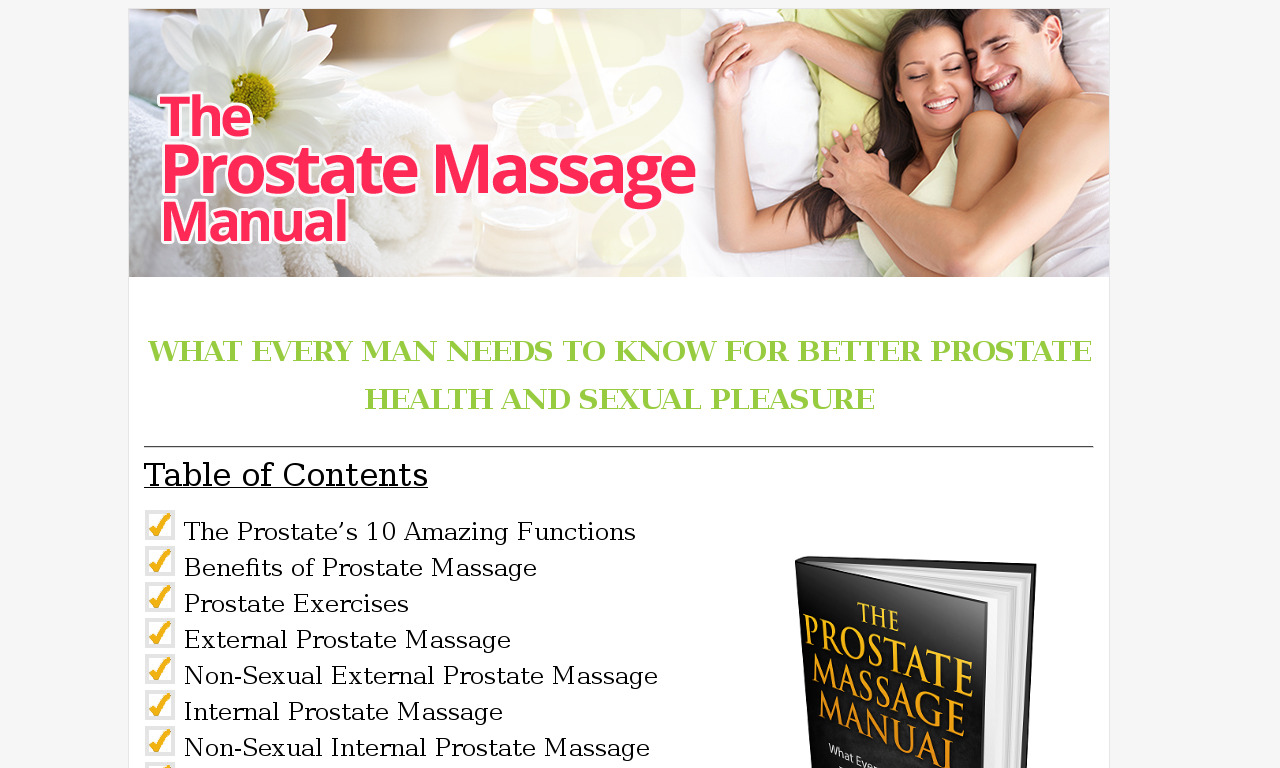 The Prostate Massage Manual: What Every Man Needs To Know For Better