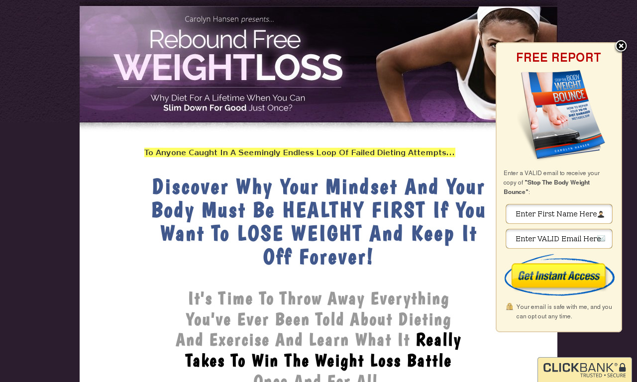 The a href='/external_link/154403'Rebound Free Weight Loss/a Homepage