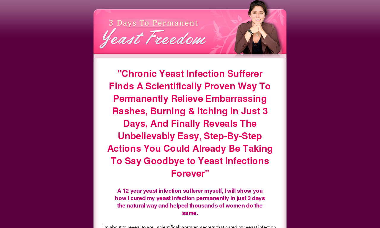 3 Days To Yeast Infection Freedom
