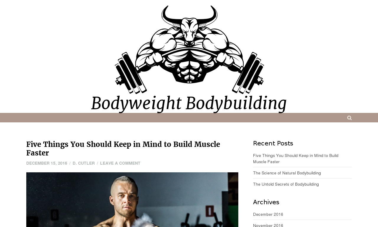 Bodyweight Bodybuilding Secrets