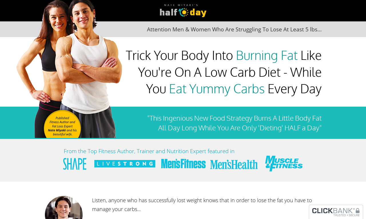 The a href='/external_link/289517'The Half Day Diet/a Homepage
