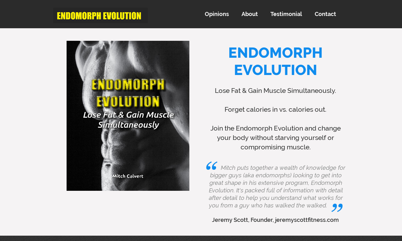 Endomorph Evolution Elite Coaching Program