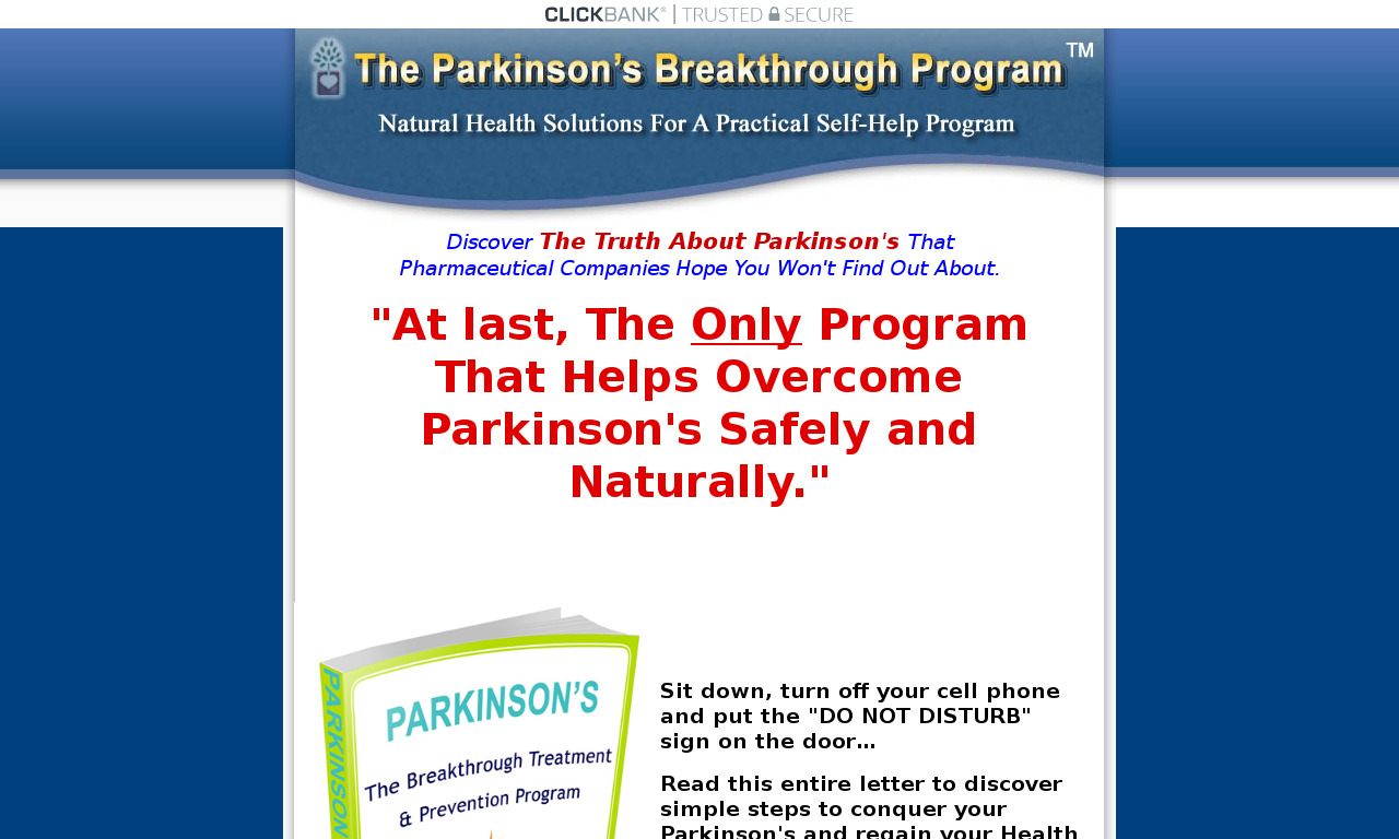 The a href='/external_link/278652'The Parkinsons/a Homepage