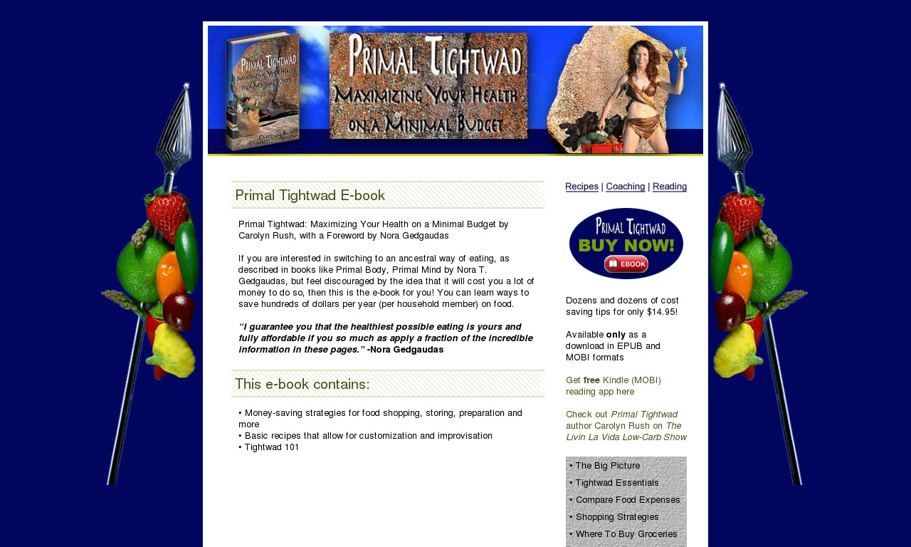 Primal Tightwad: Maximizing Your Health on a Minimal Budget (ebook)