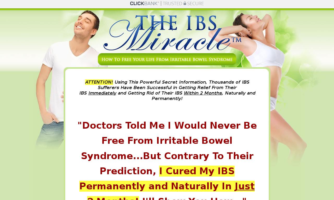 The IBS Miracle (TM) + FREE Private Consultations