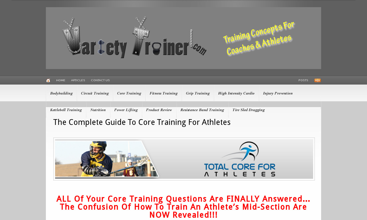 The Athlete's Complete Guide To Core Training