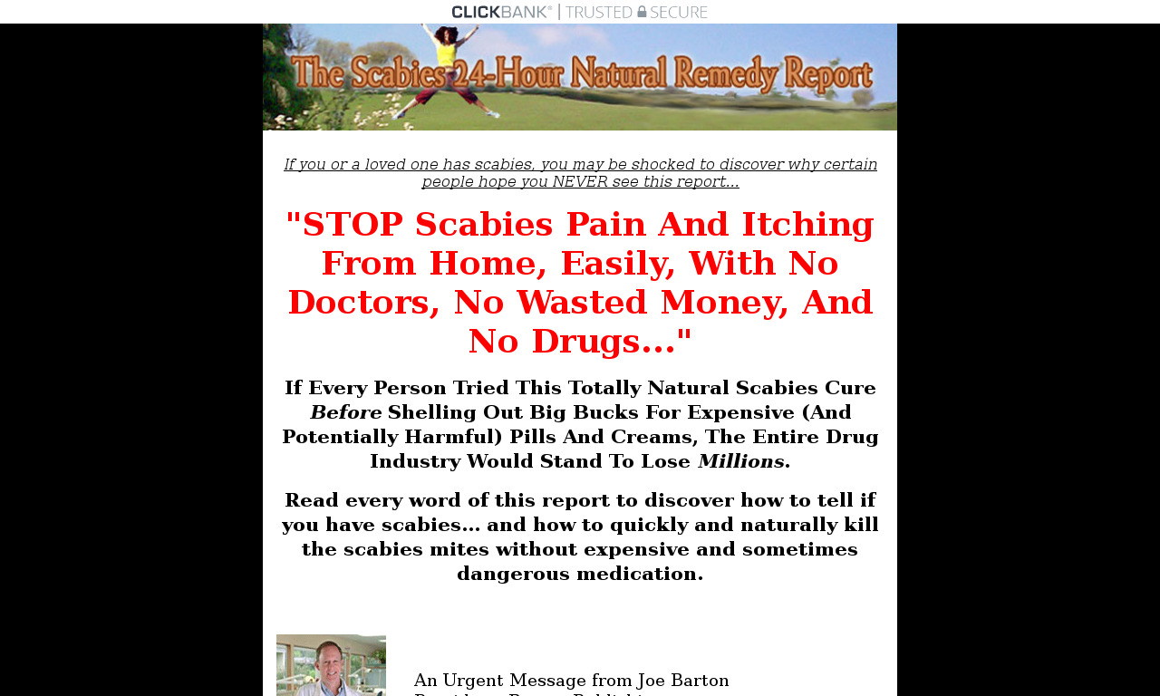 The Scabies 24hr Natural Remedy Report +2 FREE Bonuses, 100% Guarantee
