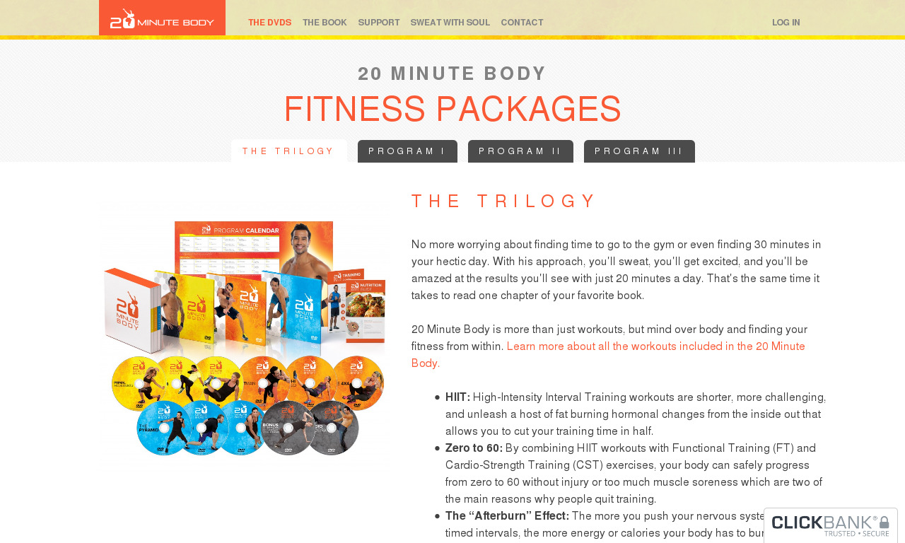 The 20 Minute Body product box