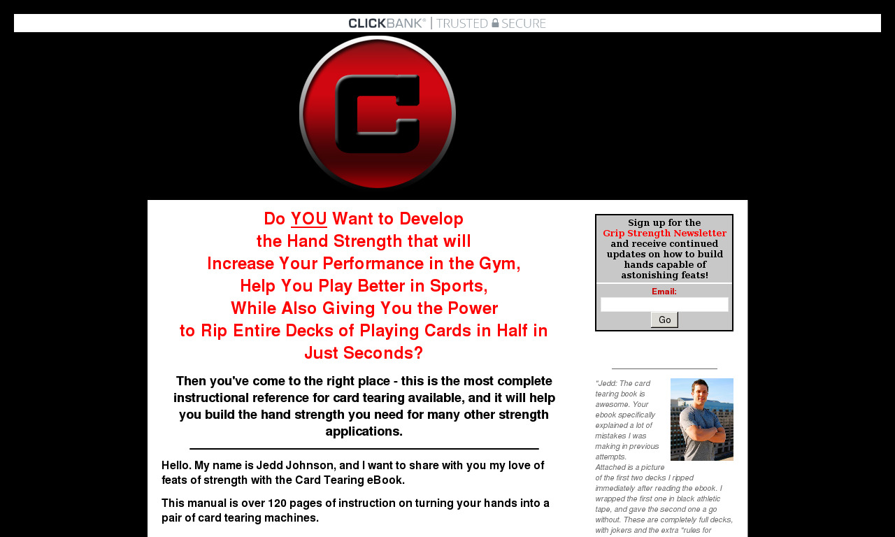 The a href='/external_link/619154'Card Tearing Ebook : How To Tear Cards/a Homepage