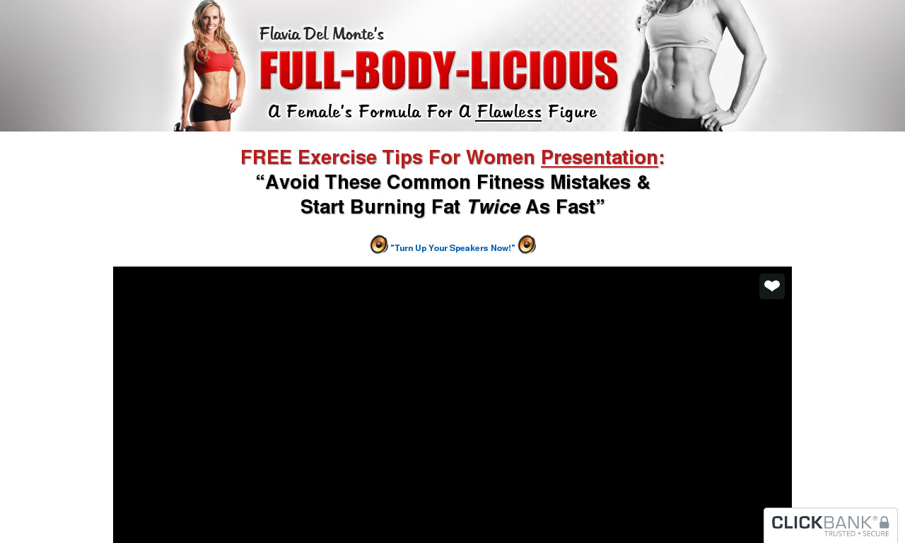 Flavia Del Monte's Full Body Licious & Curvalicious Workout Systems product box