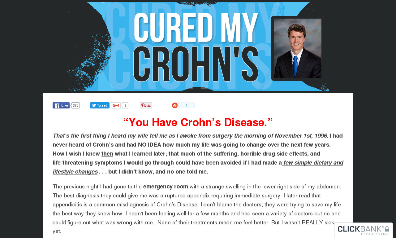 The a href='/external_link/613048'Cured My Crohn's: 75% Up Front And 50% Monthly Rebill/a Homepage