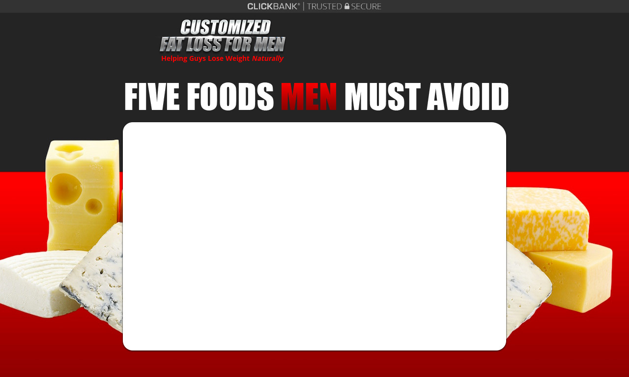 Customized Fat Loss For Men Trial