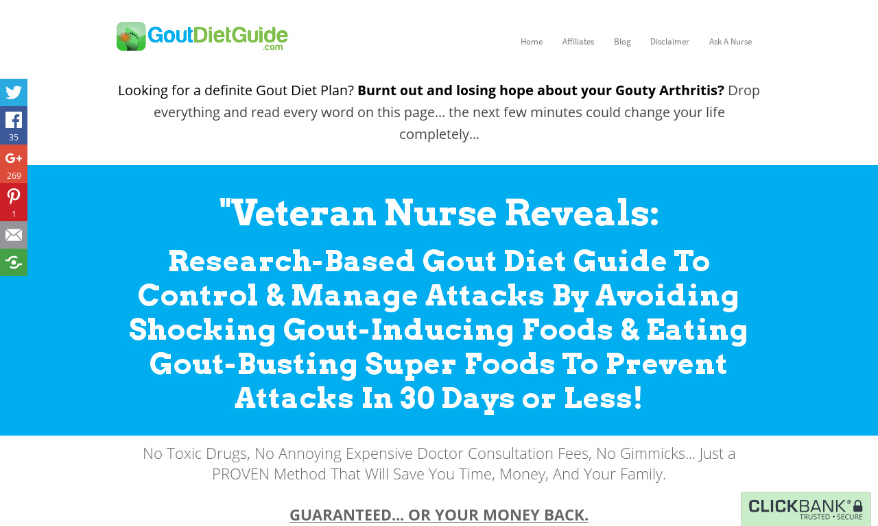The a href='/external_link/592854'Gout Diet Guide /aHomepage