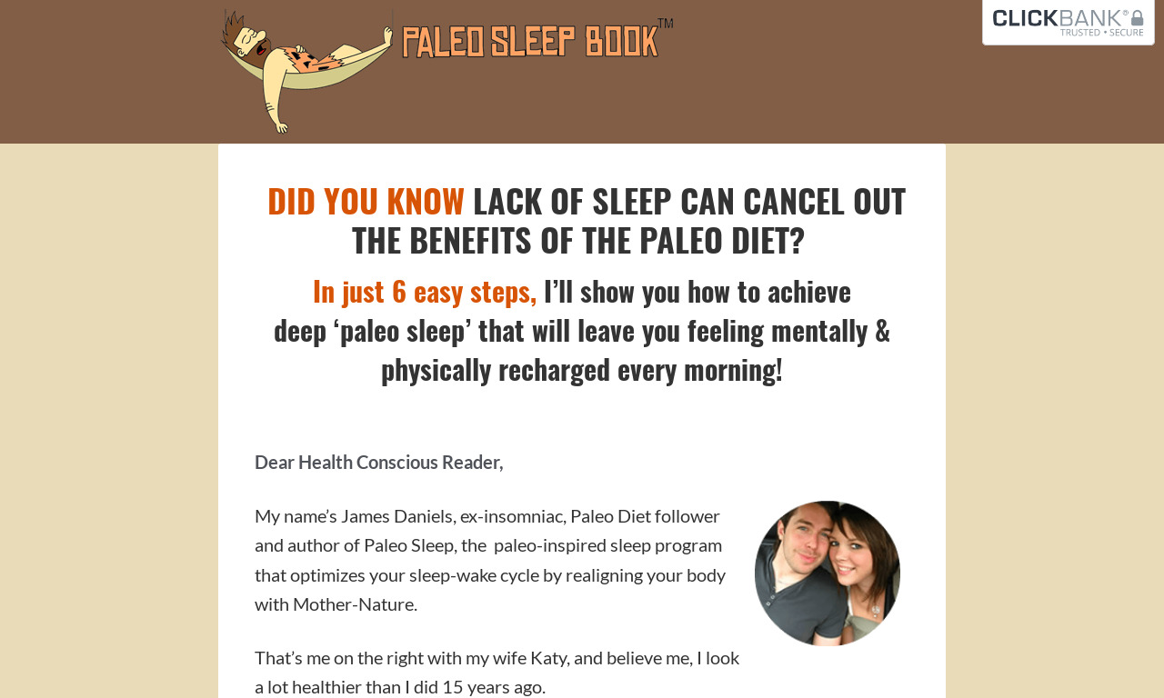 Paleo Sleep