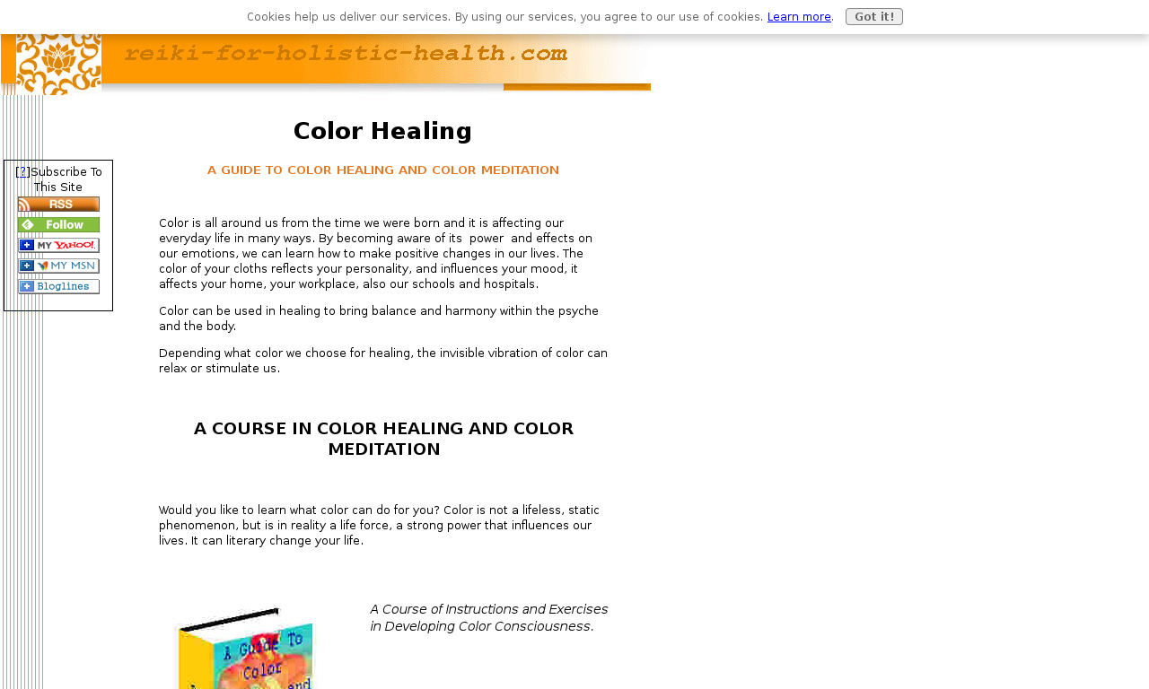 Guide to Color Healing and Color Meditation