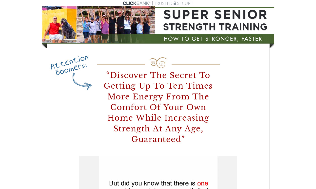 Super Senior Fitness Strength Training Program