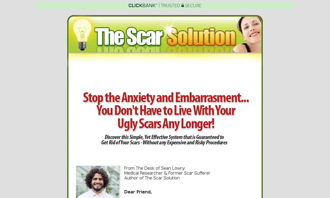 The a href='/external_link/579012'The Scar Solution /aHomepage