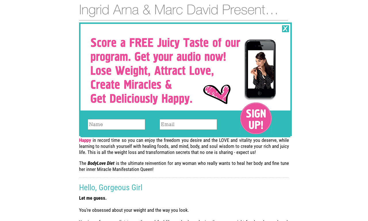 BodyLove Diet: Lose weight, Attract Love & Get Deliciously Happy!