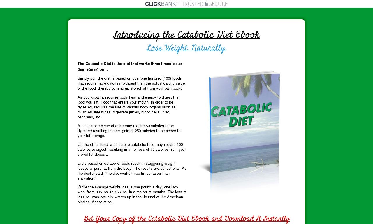 Catabolic Diet Ebook