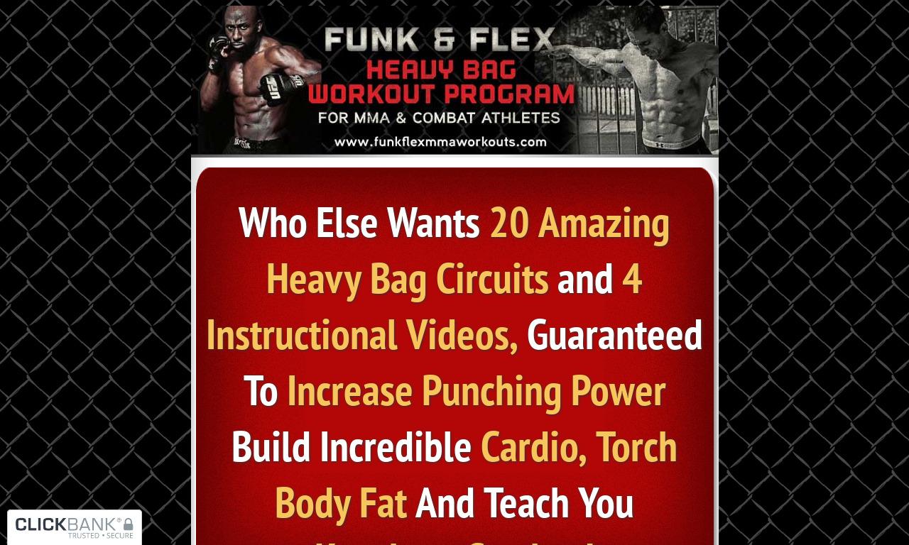Funk & Flex Heavy Bag Workouts for Combat Sports