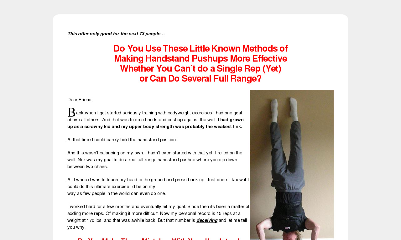 Ultimate Guide to Handstand Pushups