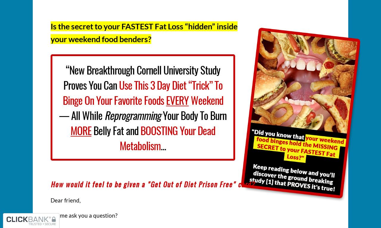 Diet Free Weekends Solution
