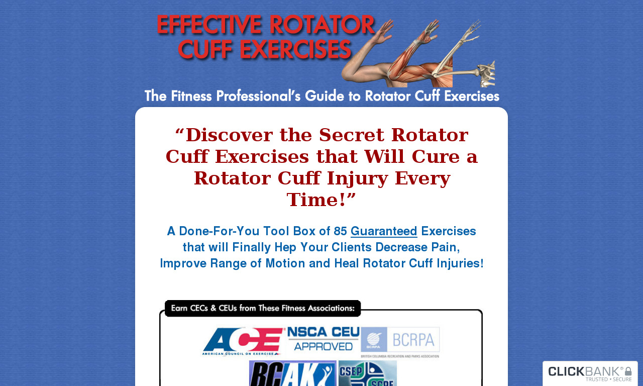 Effective Rotator Cuff Exercise Program